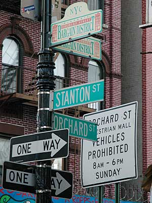 Street Signs Stanton Street And Orchard Street Lower