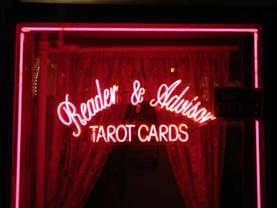 Neon sign, Tarot Cards Reader and Advisor, Lower East Side