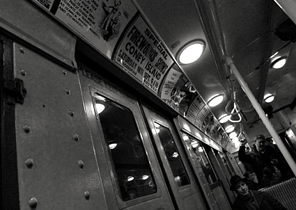 New York City vintage subway car ride, MTA New York City Transit -  photographs and feature