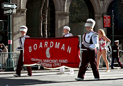 The Boardman Spartan Marching Band, Nation's Parade, Veteran's Day Parade, 5th Avenue, Manhattan, New York, NYC, November 2005