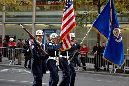 Bronx Aerospace Academy, Nation's Parade, Veteran's Day Parade, 5th Avenue, Manhattan, New York, NYC, November 2005