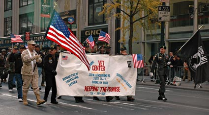 Bronx Vet Center, Nation's Parade, Veteran's Day Parade, 5th Avenue, Manhattan, New York, NYC, November 2005
