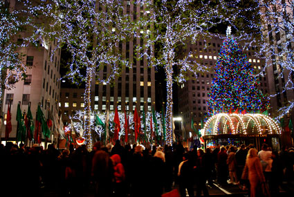 Rockefeller Centre lights, New York