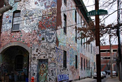 Magic Garden mosaic murals, South Street and 1003 Kater Street, Philadelphia, 19147, PA, US