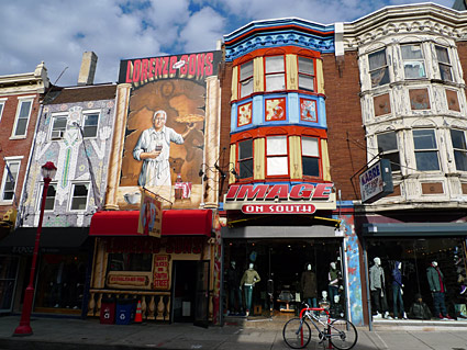South Street, Philadelphia, PA, US - photos of shops, bars and architecture