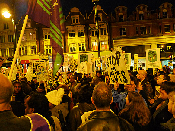 Brixton Anti Cuts Protest And Town Hall Occupation