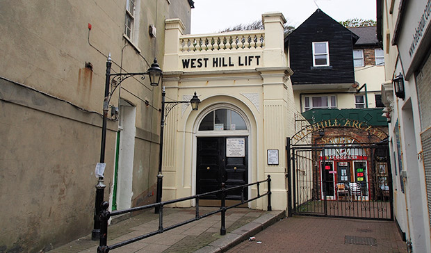 East Hill and West Hill Cliff Railways of Hastings - two funicular railways on the south coast of England