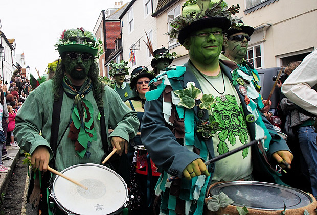 Hastings Jack In The Green: The Grand Procession, High Street, Hastings England UK, Monday 7th May 2012