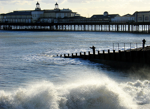 Archive photos of Hastings Pier, seafront, Hastings, East Sussex, England UK July 2012