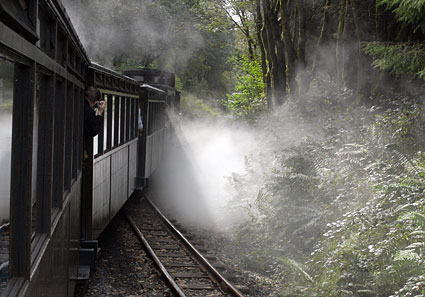 Brecon Mountain Railway, preserved steam railway running from Pant to Pontsticill Station, south Wales