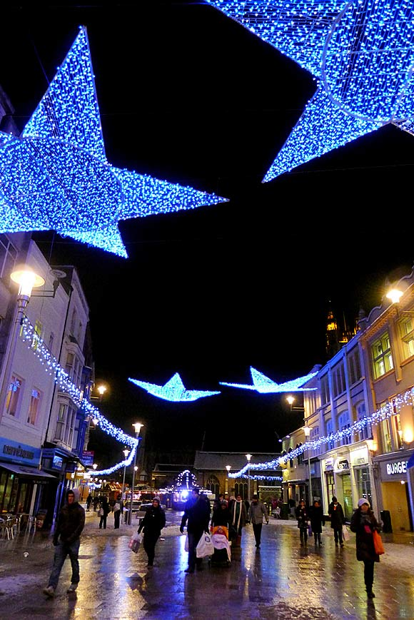 Photos of Cardiff Christmas lights in Castle Street, St Mary's ...