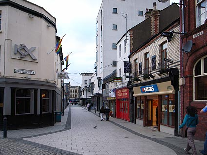 Caroline Street Cardiff Looking Down Caroline Street