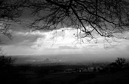 Graig Llanishen walk on Christmas Day 2008, by Caerphilly Mountain, north Cardiff, south Wales