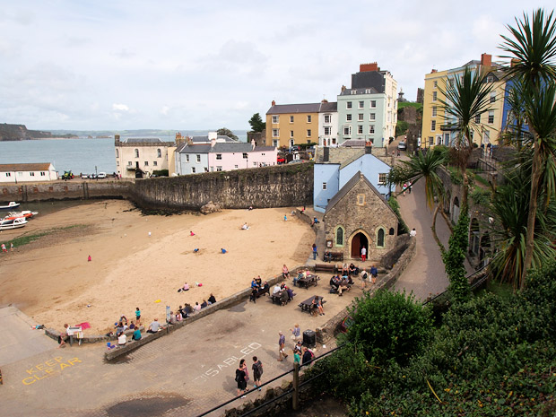 Photos from the beaches, harbour and streets of Tenby / Dinbych-y-Pysgod, a walled seaside town in Pembrokeshire, South West Wales, UK