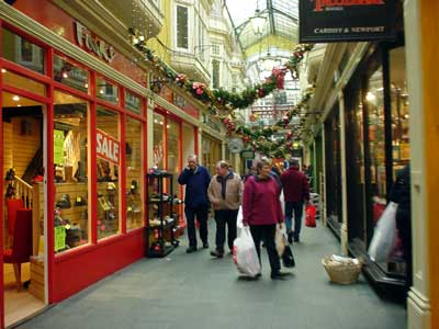 Shopping arcade, Cardiff