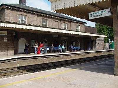 Abergavenny railway station, Monmouthshire, south Wales photos