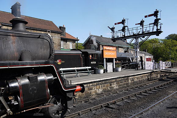 A trip on the North Yorkshire Moors steam railway from Whitby to Pickering via Goathland, Yorkshire, England, June 2010