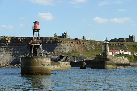 Whitby harbour and piers, North Yorkshire, England, June 2010