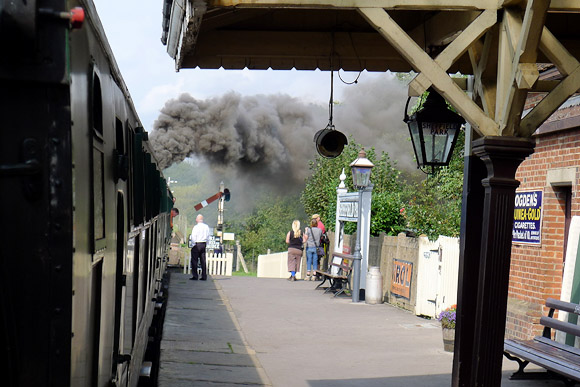 Bluebell Railway running from Sheffield Park to Kingscote via Horsted Keynes, Sussex