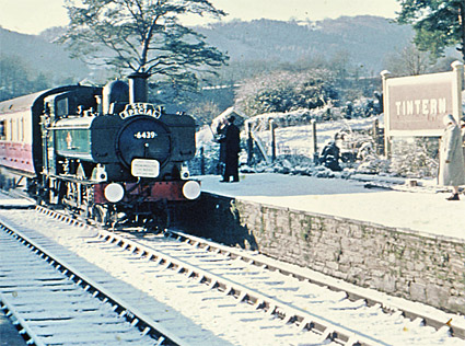 Last passenger train, Tintern station, Wye Valley branch line, Monmouthshire, Wales