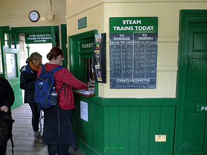 A Steam Train Trip On The Swanage Railway Corfe Caste To